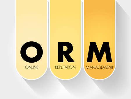 ORM - Online Reputation Management acronym, business concept background