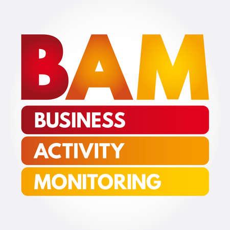 BAM - Business Activity Monitoring acronym, concept background