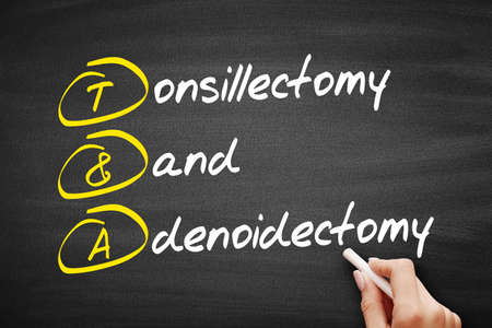 T&A - Tonsillectomy and Adenoidectomy acronym, medical concept background Stock fotó