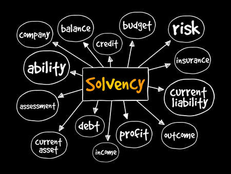 Solvency mind map, business concept for presentations and reports Vector Illustration