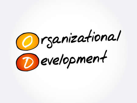 OD - Organizational Development acronym, business concept background Vektorové ilustrace