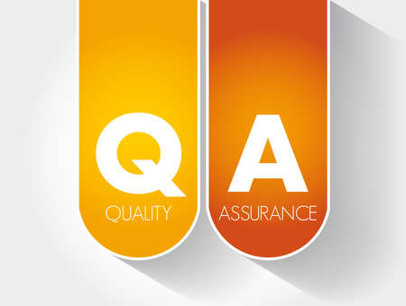 QA - Quality Assurance acronym, business concept background Vecteurs