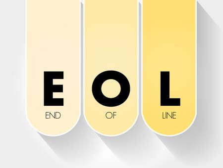 EOL - End of Line acronym, technology concept background Ilustração Vetorial