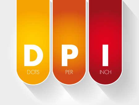 DPI - Dots Per Inch acronym, technology concept background