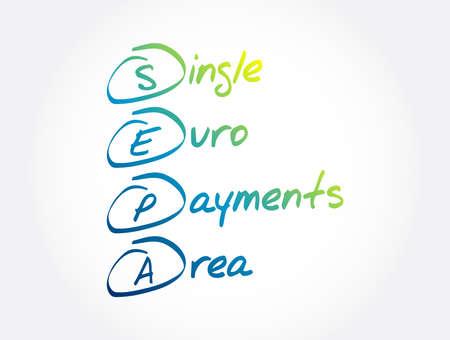 SEPA - Single Euro Payments Area acronym, business concept background Vektorgrafik