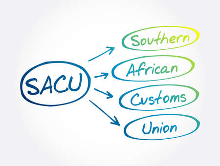 SACU - Southern African Customs Union acronym, concept background