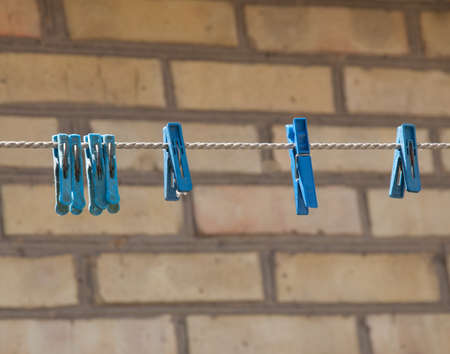clothespins: clothespins on a rope