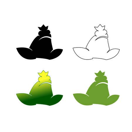 Set of frog logotypes vector illustration gradient