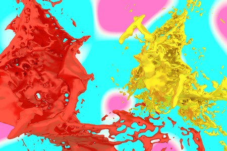 Jumping of dyes