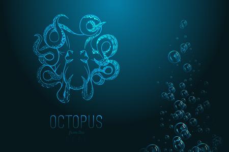 feeler: Octopus in deep Template for logo Illustration