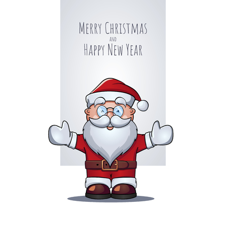Santa Claus portrait as Christmas greeting card.