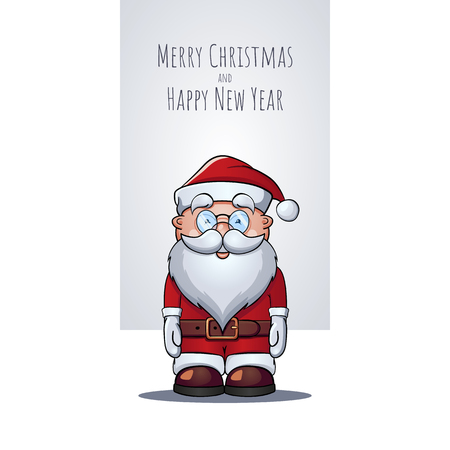 Santa Claus portrait as Christmas greeting card.