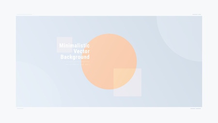 Abstract minimalistic gradient geometric modern vector background. Gradient Geometry Forms. Graphic design. Creative concept Ilustrace