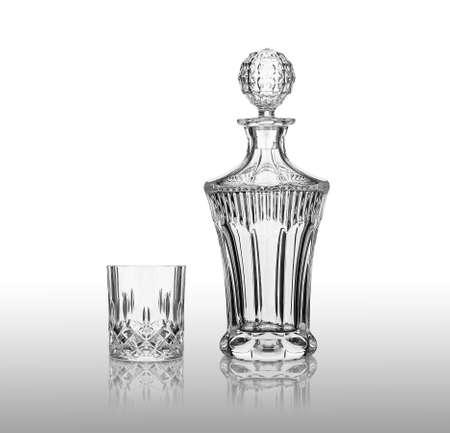 stemware: crystal glass Stock Photo