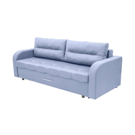 couch: modern blue couch isolated on white background