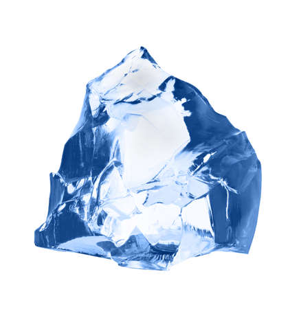 shard: Piece of ice isolated on white background.