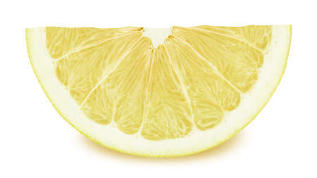 cutted: Slice of pomelo isolated on a white background. Full depth of field.