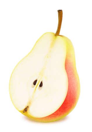 Half of ripe pear isolated Stock Photo