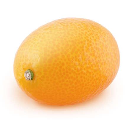 Whole kumquat isolated on a white background. Banco de Imagens