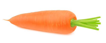 Fresh whole carrot isolated on a white background. Clip art image for package design. Stock Photo