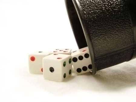 Roll Of The Dice Stockfoto