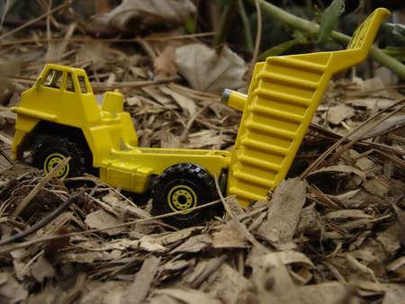 Dump Truck Dumping 版權商用圖片