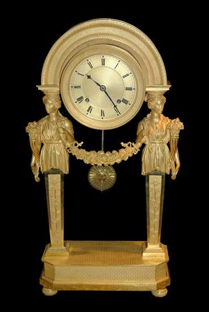 Antique clock in roman style photo
