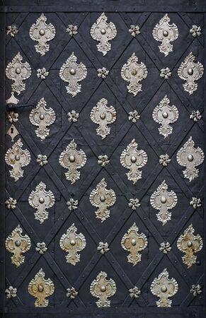 Metalic pattern on vintage door Stock Photo - 6657029