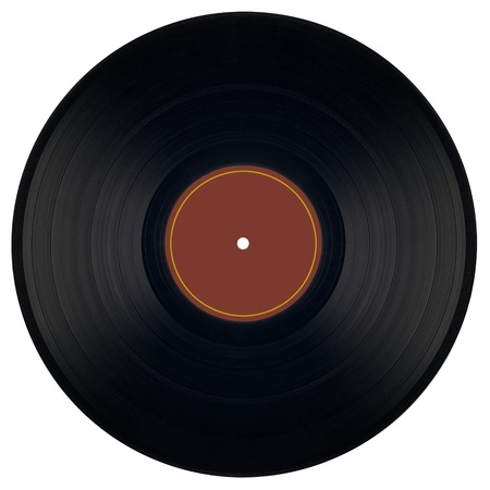 gramophone: Detailed shot of old Vinyl isolated