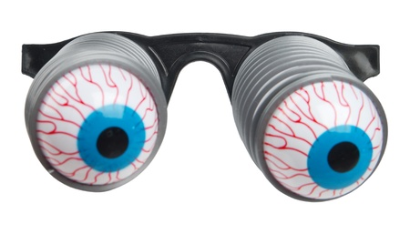 Funny glasses (focus on frame for easy photomontage on face)