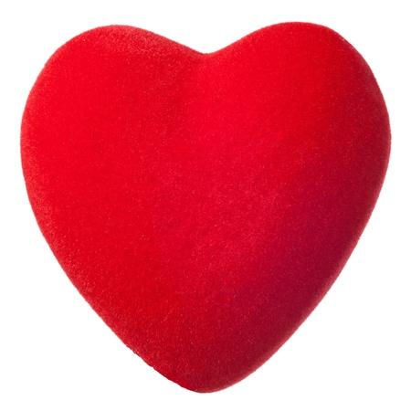 Red plush heart