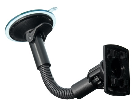 Holder for electronic device (phone, gps navigation device etc.) with suction cup