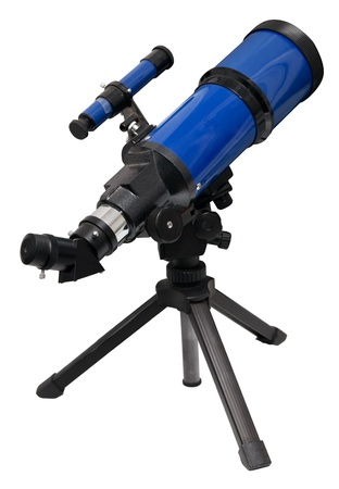 Telescope isolated on white.