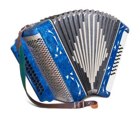 Bayan (kind of accordion) isolated on white background.