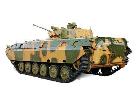 allied: Former USSR Armored Personnel Carriers used in many country isolated over white.