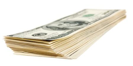 plunder: The hundred dollars bundle isolated on white
