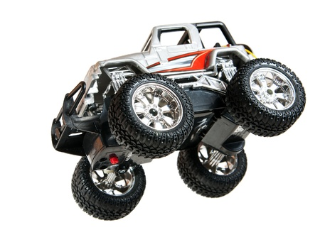 Jumping toy car Stock Photo