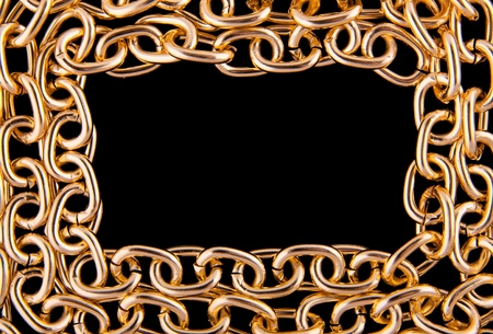 Golden chain as frame photo