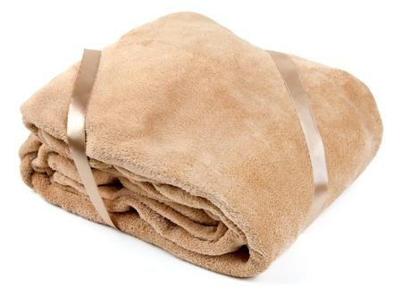 Fleece blanket, isolated on a white background Stock Photo