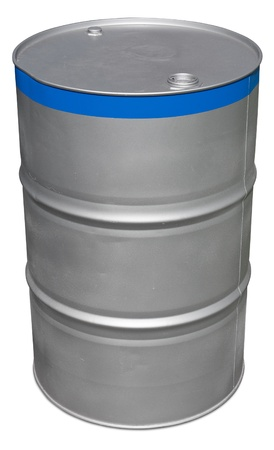 gallon: Oil barrel isolated on white.