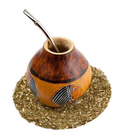 yerba mate: Yerba mate beber conjunto - calabaza y bombilla