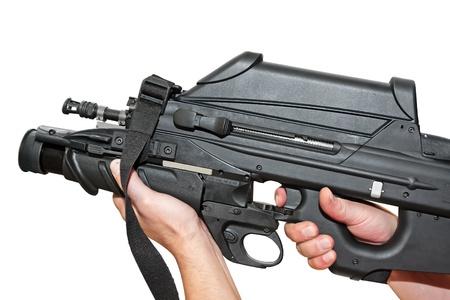 Futuristic machine gun photo