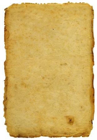 Altes Papier mit schäbigen Kanten isoliert Standard-Bild - 10027860