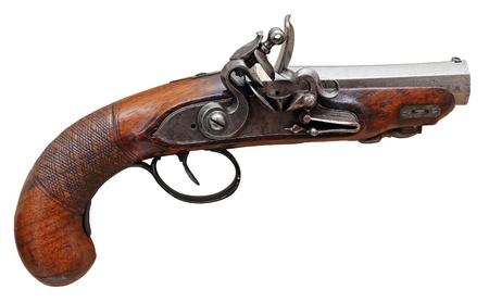 flint gun: Real XVII th pirates flint pistol.  Stock Photo