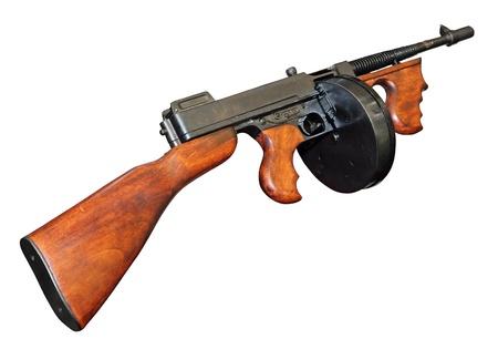 gatillo: Antiguo gángster buena Tommy Gun