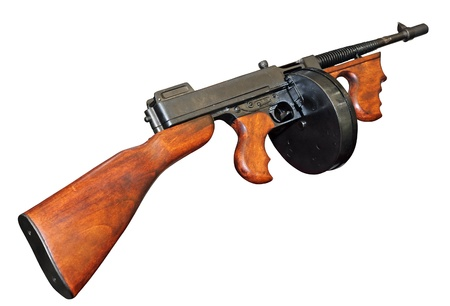vintage military rifle: Old good gangster Tommy Gun