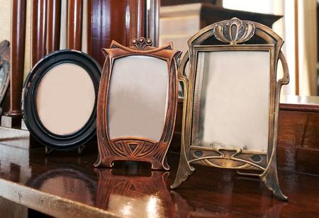 Antique photoframes Banque d'images