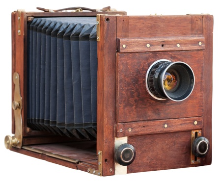 vintage camera: Vintage wooden camera