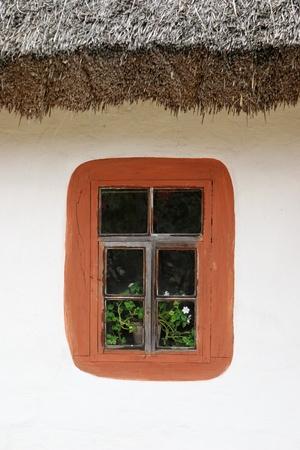 Ancient house window photo