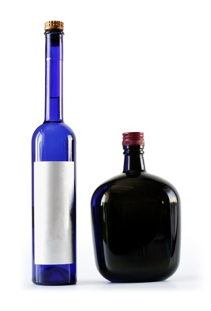 Two bottles - thick and thin photo